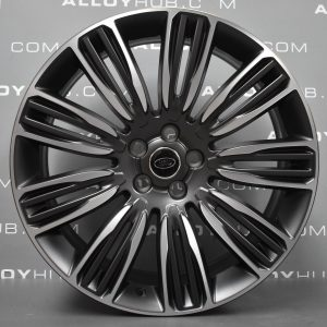 "Genuine Land Rover Range Rover Velar 22"" inch Style 9007 9 Split-Spoke Alloy Wheels with Grey & Diamond Turned Finish LR093331"