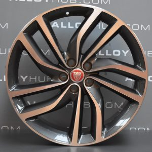 "Genuine Jaguar XF X260 Labyrinth 5 Twin Spoke 20"" Inch Alloy Wheels with Grey & Diamond Turned Finish GX6M-1007-FA"