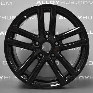 "Genuine Volkswagen Touareg 7L 5 Twin Spoke 19"" Inch Alloy Wheels with Gloss Black Finish 7L6 601 025 S"