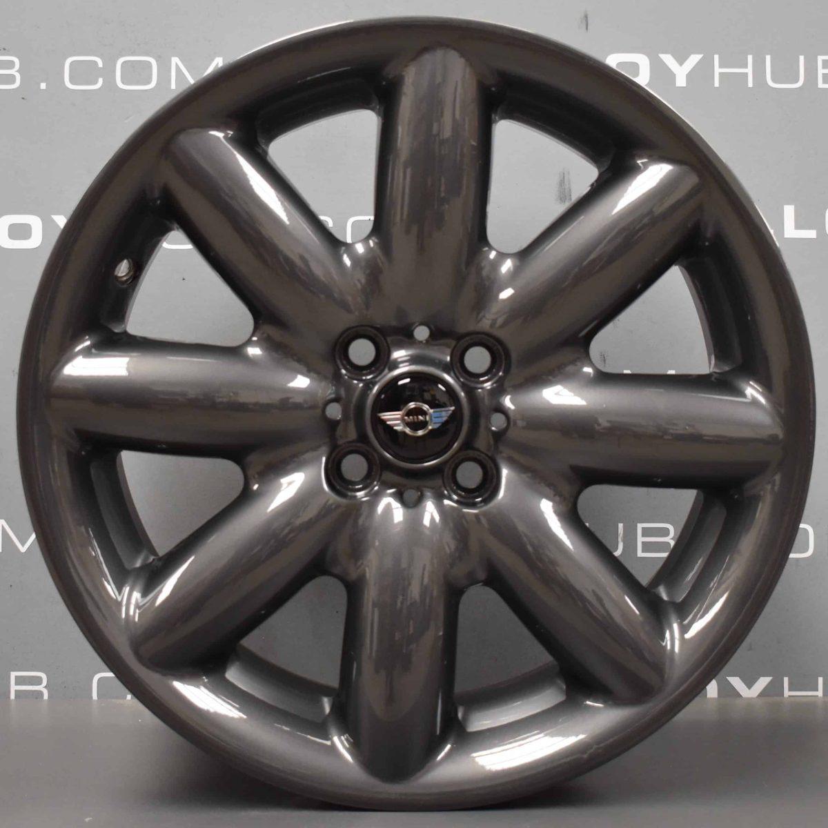 "Genuine Mini Cooper S R50 R53 R56 R85 S Spoke 17"" inch Alloy Wheels with Anthracite Grey Finish 36111512352"