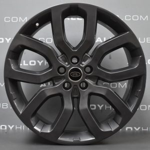 Genuine Land Rover Range Rover 22″ inch Style 5004 5 Split Spoke Alloy Wheels with Anthracite Grey Finish LR037747