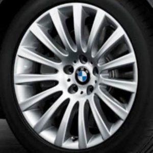 Genuine BMW 5 Series E60 E61 Style 235 19″ inch Multi Spoke Alloy Wheel with Silver Finish 36116775404 36116775405