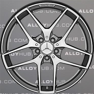 "Genuine Mercedes-Benz GLA X156 AMG 19"" inch 5 Spoke Alloy Wheels with Grey & Diamond Turned Finish A1564010700"