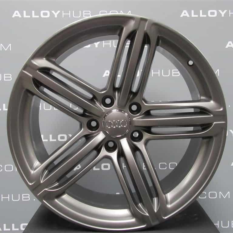 "Genuine Audi TT TTS MK2 8J 5 Segment Spoke 19"" Inch Alloy Wheels with Titanium Grey Finish 8J0 601 025 CM"