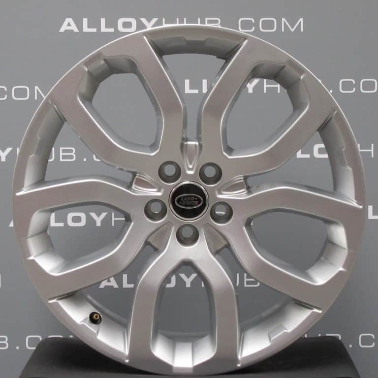 """Genuine Land Rover Range Rover 22"""" inch Style 5004 5 Split Spoke Alloy Wheels with Sparkle Silver Finish LR037747"""
