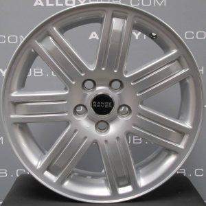 "Genuine Range Rover Vogue L322 7 Spoke 19"" inch Alloy Wheels with Sparkle Silver Finish RRC502640XXX"