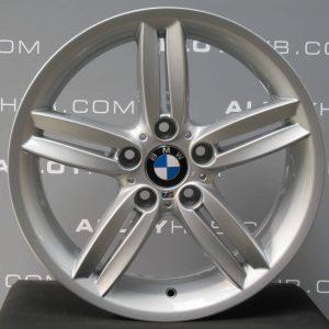 "Genuine BMW 1 Series 208M Sport 5 Twin Spoke 18"" Inch Alloy Wheels with Silver Finish 36118036939 36117839305"