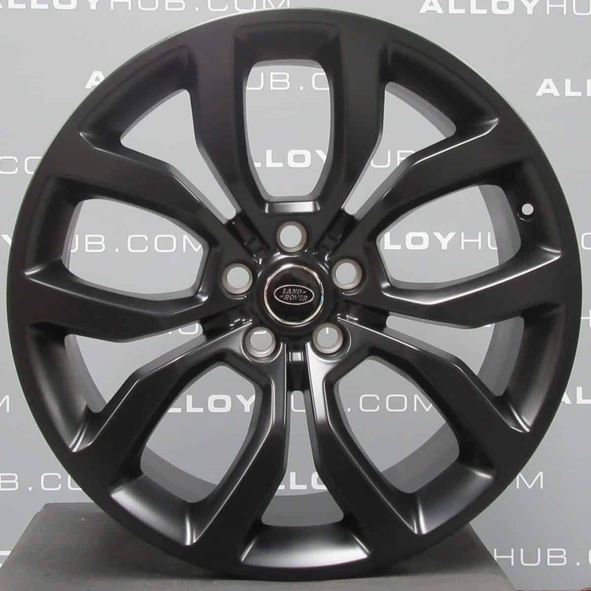 "Genuine Land Rover Range Rover Style 5005 21"" inch 5 Split-Spoke Satin Black Alloy Wheels LR044840"