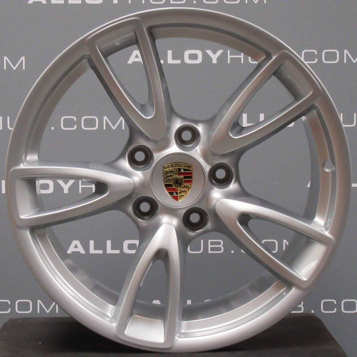 Genuine Porsche 911 997 Carrera 2/2S Gen 2 5 Twin Spoke 18″ Inch Alloy Wheels with Silver Finish 99736213701 99736214105