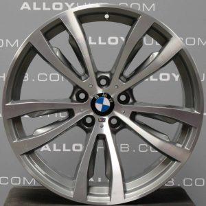 Genuine BMW X5 X6 F15 F16 Style 469M Sport 20″ inch 5 Twin Spoke Alloy Wheels with Grey & Diamond Turned Finish 36117846790 36117846791