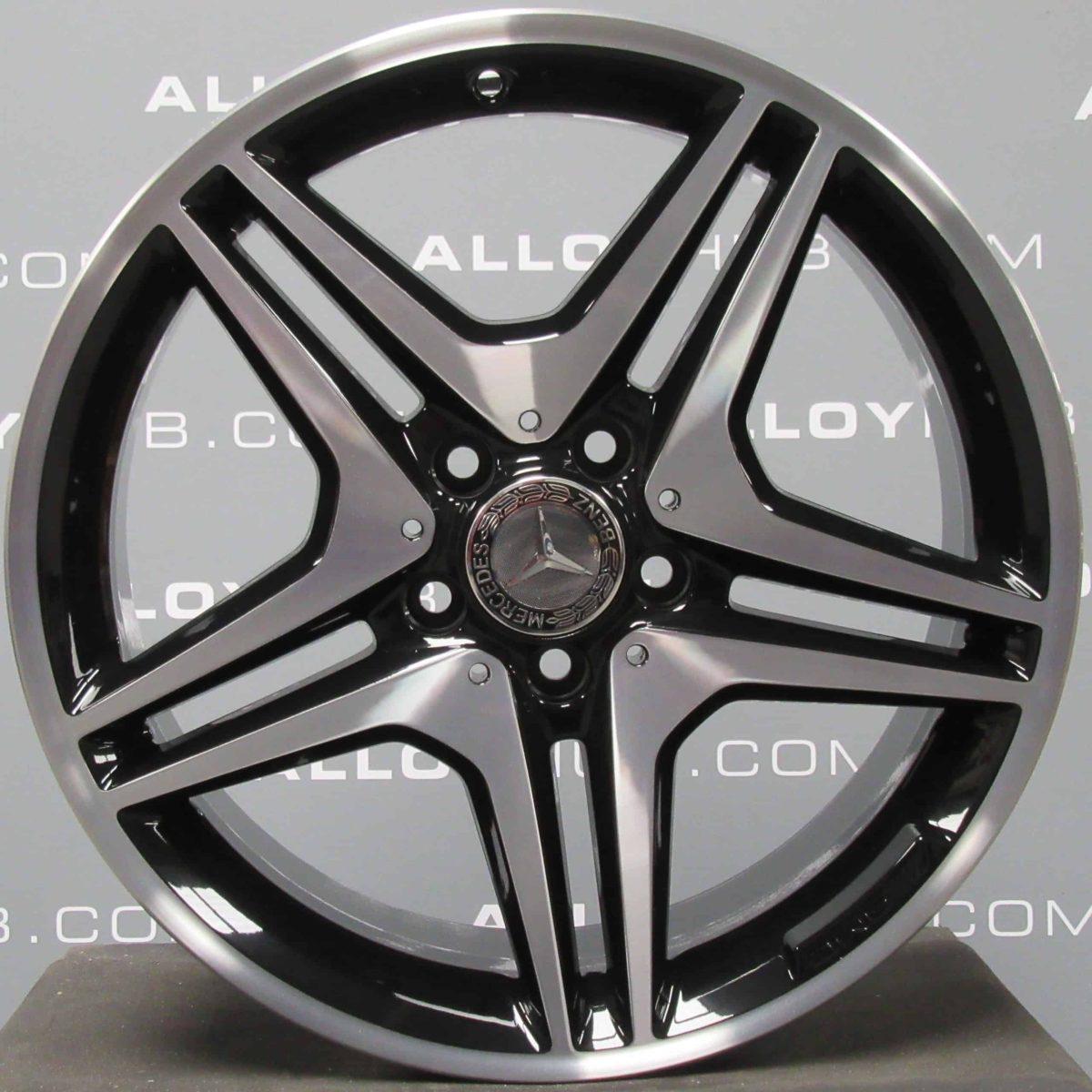 "Genuine Mercedes-Benz A/B Class W176 W246 18"" Inch 5 Twin Spoke Alloy Wheels with Black & Diamond Turned Finish A1764010302"