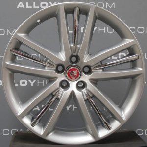 Genuine Jaguar XK X150 Selena 5 Twin Spoke 20″ Inch Alloy Wheels with Silver Finish C2P14975 C2P15027