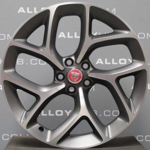 "Genuine Jaguar XE X760 Propeller Style 1014 20"" inch Alloy Wheels with Grey & Diamond Turned Finish GX7M-1007-LA GX7M-1007-MA"