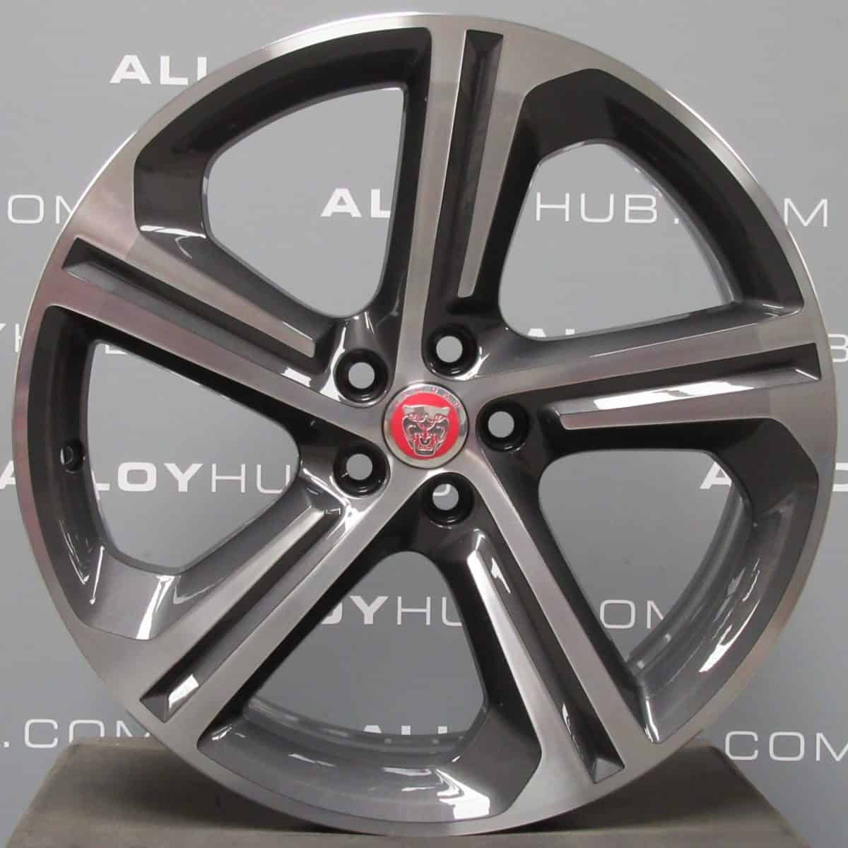 """Genuine Jaguar F-Pace Style 5035 Blade Spoke 20"""" Inch Alloy Wheels with Grey & Diamond Turned Finish T4A4437"""