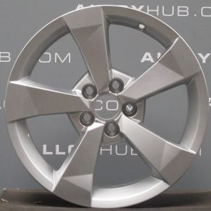 "Genuine Audi A1 8X 5 Spoke 16"" Inch Alloy Wheels with Silver Finish 8XA 601 025 A"