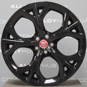 "Genuine Jaguar F-Type Storm Style 5040 20"" inch Alloy Wheels with Gloss Black Finish EX5M-1007-VA, EX5M-1007-XA"
