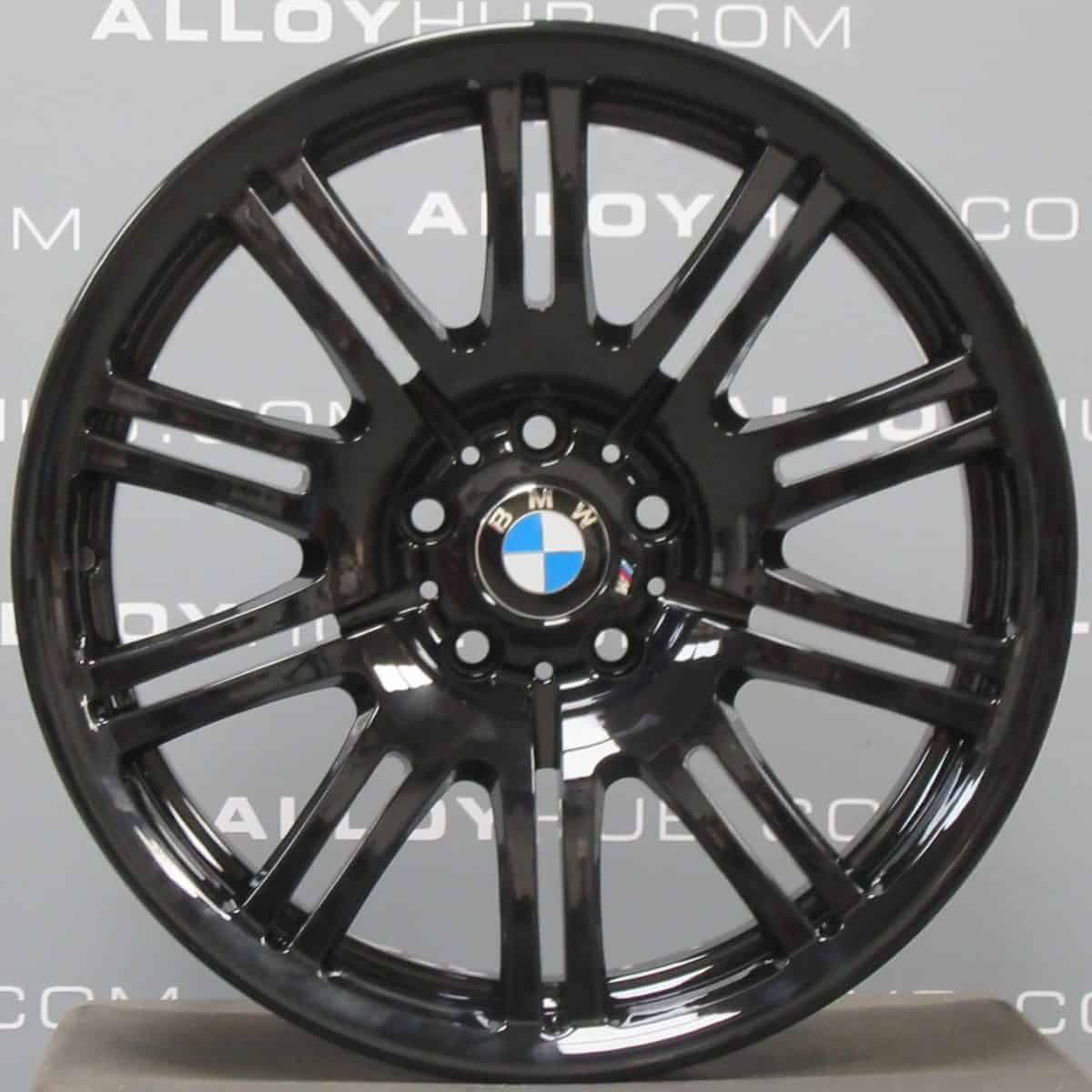 """Genuine BMW M3 E46 Style 67M Sport 10 Double Spoke 19"""" inch Alloy Wheels with Gloss Black Finish 36112229650 36112229660"""