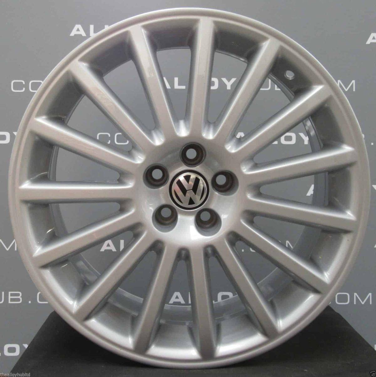 Genuine Volkswagen Golf MK4 R32 15 Spoke 18″ inch Alloy Wheels with Silver Finish 1J0 601 025 BA