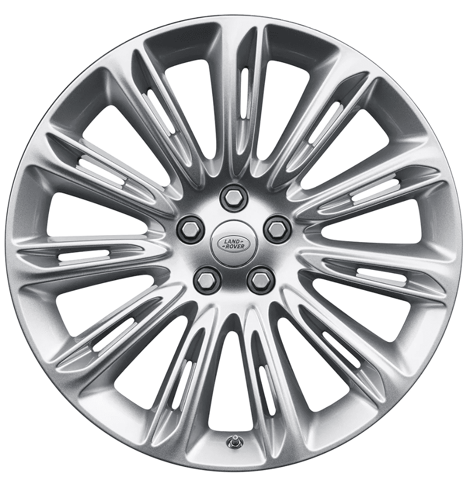 """Genuine Land Rover Range Rover Style 1046 11 Spoke 22"""" inch Alloy Wheels with Sparkle Silver Finish LR098799"""