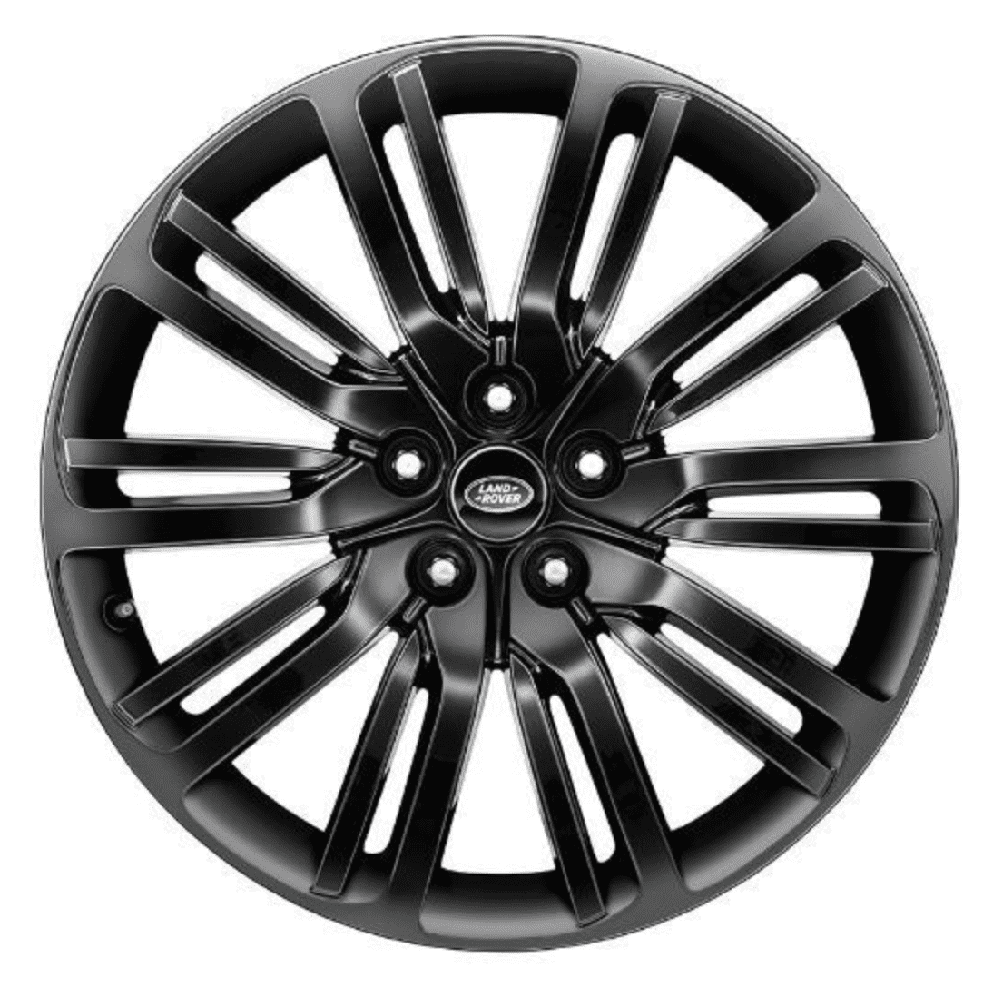 """Genuine Land Rover Discovery 5 Style 1012 21"""" inch 10 Spoke Alloy Wheels with Gloss Black Finish LR0181585"""