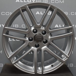 """Genuine Audi A7 S7 RS7 A8 S8 4G 4H 7 Double Spoke 19"""" Inch Alloy Wheels with Silver Finish 4H0 601 025 CA"""