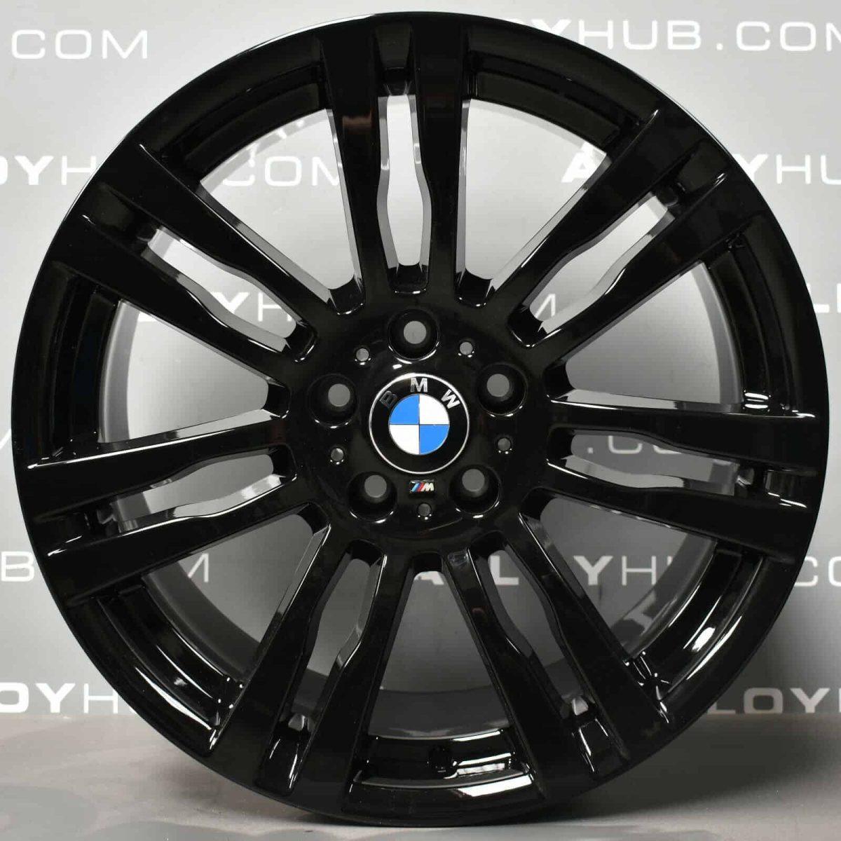 Genuine BMW X5/X6 E70 E71 E72 Style 333M Sport 20″ Inch 7 Twin Spoke Alloy Wheels with Gloss Black Finish 36117842183 36117842184