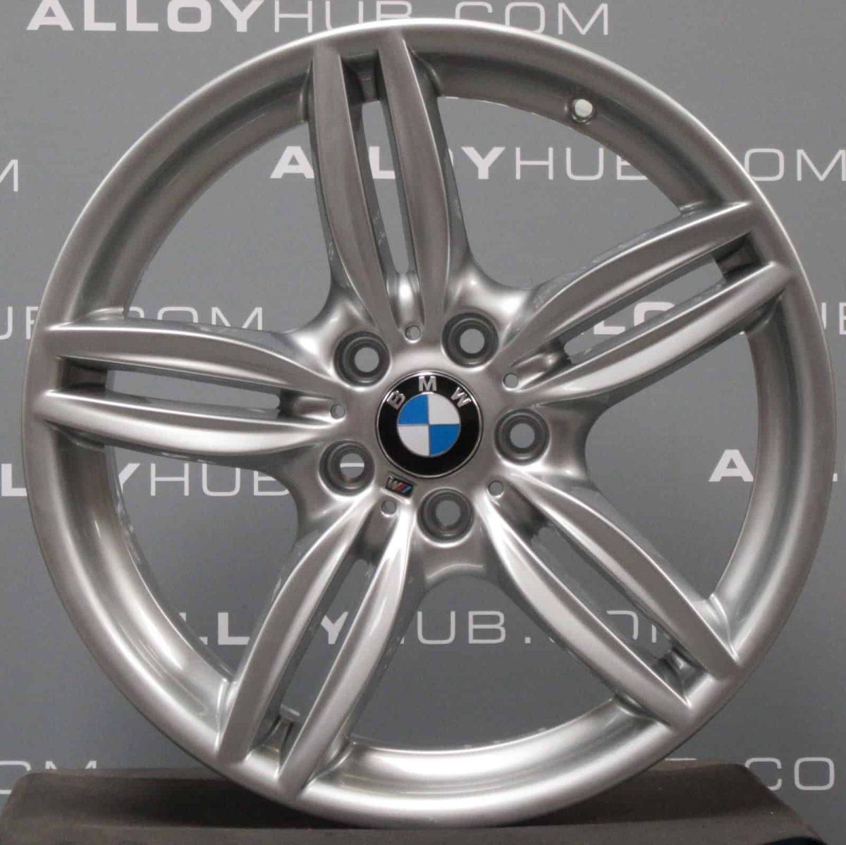 Genuine BMW 5/6 Series F10 F11 F12 F13 F06 Style 351M Sport 19″ inch 5 Twin Spoke Alloy Wheels with Silver Finish 36117842652 36117842653