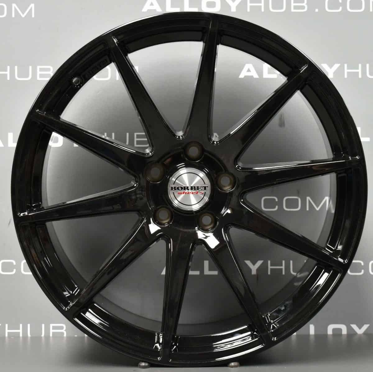 "Genuine VEA Borbet Volkswagen Amarok 10 Spoke 20"" Inch Alloy Wheels with Gloss Black Finish"