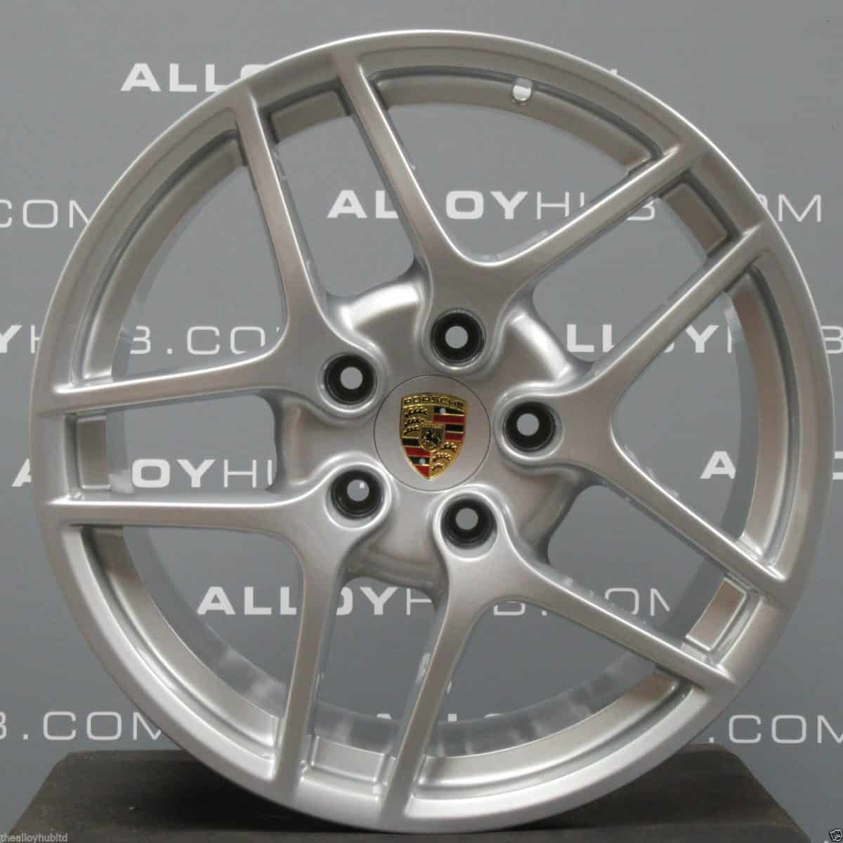 Genuine Porsche 911 997 Carrera 2/2S Gen 2 5 Twin Spoke 19″ Inch Alloy Wheels with Silver Finish 99736215700 99736216300