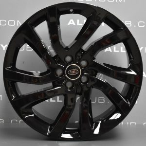 """Genuine Land Rover Discovery Sport HSE L550 20"""" inch Style 5011 5 Split Spoke Alloy Wheels with Gloss Black Finish LR074095"""