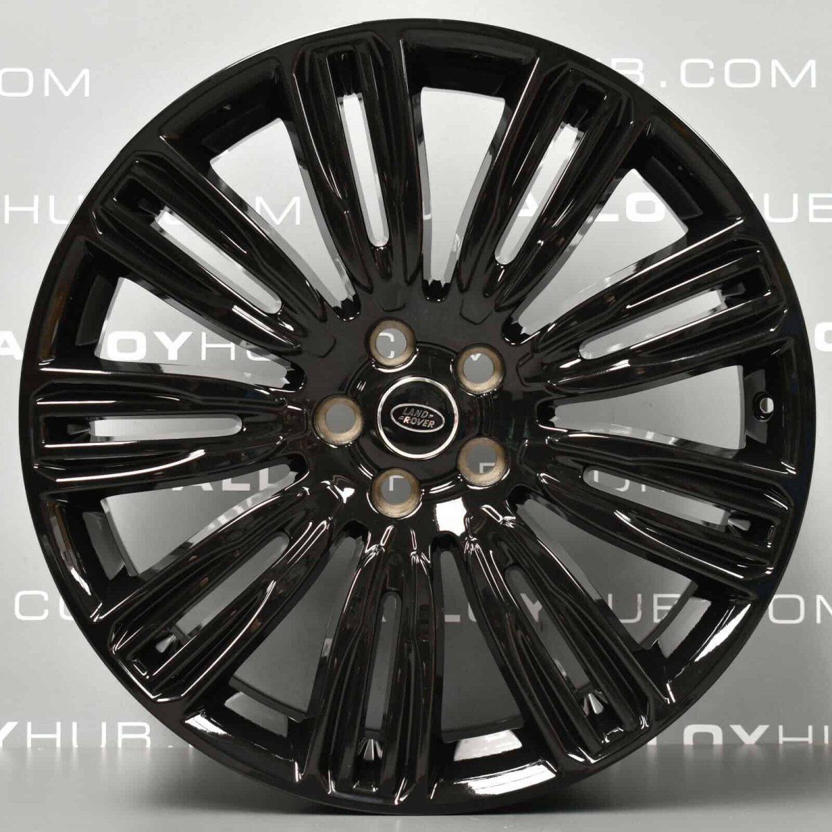 """Genuine Land Rover Range Rover Velar 22"""" inch Style 9007 9 Split-Spoke Alloy Wheels with Gloss Black Finish LR093331"""