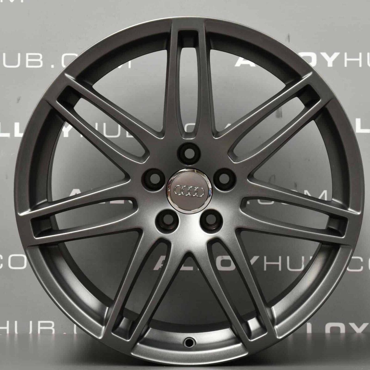 "Genuine Audi TT TTS MK2 8J 19"" Inch 7 Double Spoke S-Line Black Edition Alloy Wheels with Satin Grey Finish 8J0 601 025 N"