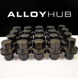 Land Rover Range Rover/Discovery Alloy Wheel Nuts & Locking Wheel Nut Set with Black Finish (2006-2013) RRD500510 / RRD500590