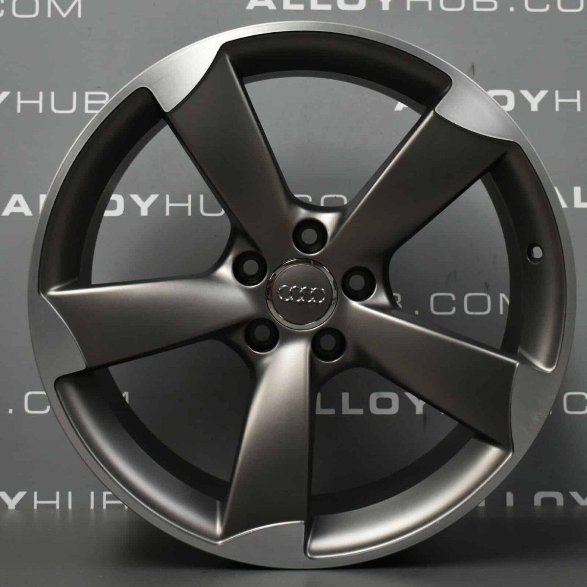 "Genuine Audi A4 8K 5 Spoke Rotor Arm 19"" Inch Alloy Wheels with Grey & Diamond Turned Finish 8K0 601 025 CN"