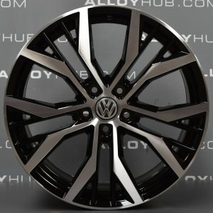 "Genuine Volkswagen Golf MK7 GTD Santiago 19"" inch Alloy Wheels with Black & Diamond Turned Finish 5G0 601 025 AN"