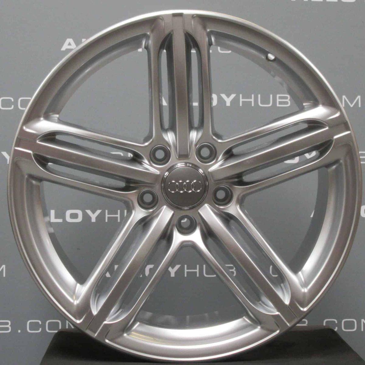 """Genuine Audi Q7 4L 21"""" Inch 5 Segment Spoke S-Line Alloy Wheels with Silver Finish 4L0 601 025 BH"""