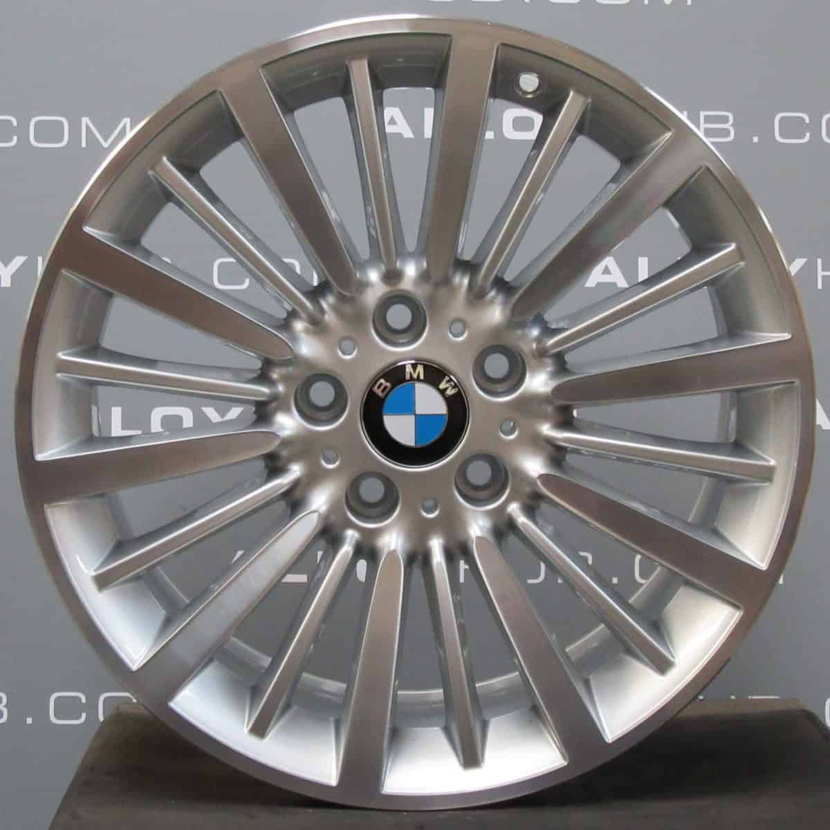 """Genuine BMW 3/4 Series Style 416 18"""" inch Alloy Wheels with Silver & Diamond Turned Finish 36116796249"""