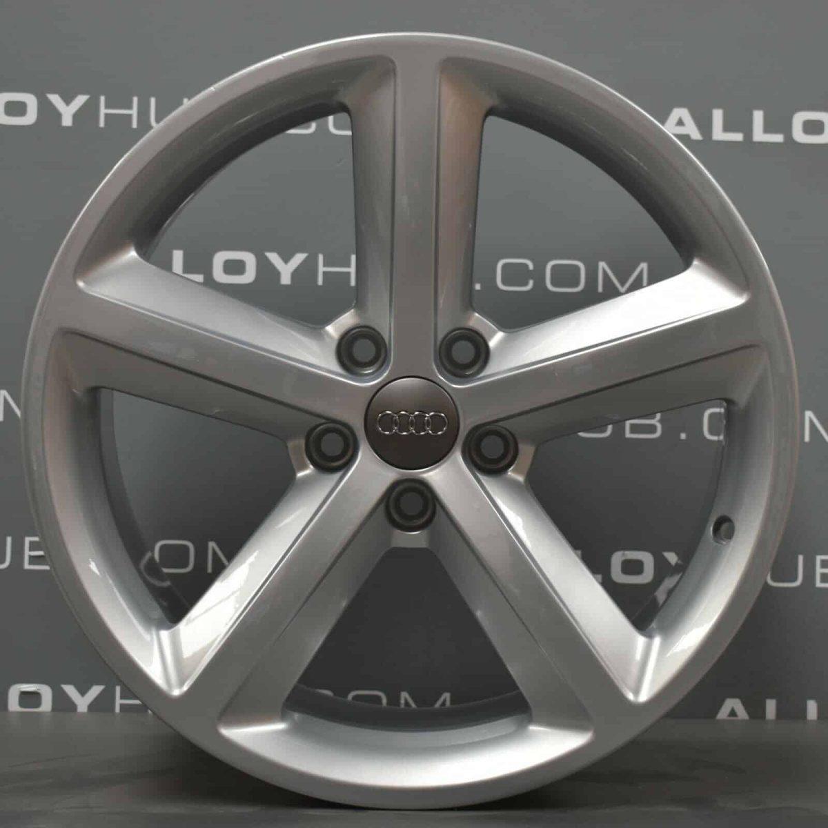 """Genuine Audi TT TTS MK2 8J 5 Spoke 18"""" Inch Alloy Wheels with Silver Finish 8J0 601 025 M"""