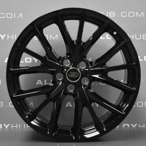 "Genuine Land Rover Range Rover Sport SVR L494 Style 5091 Techno Spider 21"" inch Alloy Wheels with Gloss Black Finish JK6M-1007-CA"