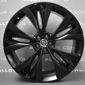 Genuine Jaguar F-Pace Helix Style 1020 10 Spoke 22″ Inch Alloy Wheels with Satin Black Finish T4A858
