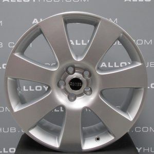 """Genuine Land Rover Range Rover Style 8 7 Spoke 22"""" inch Alloy Wheels with Sparkle Silver Finish LR038150"""