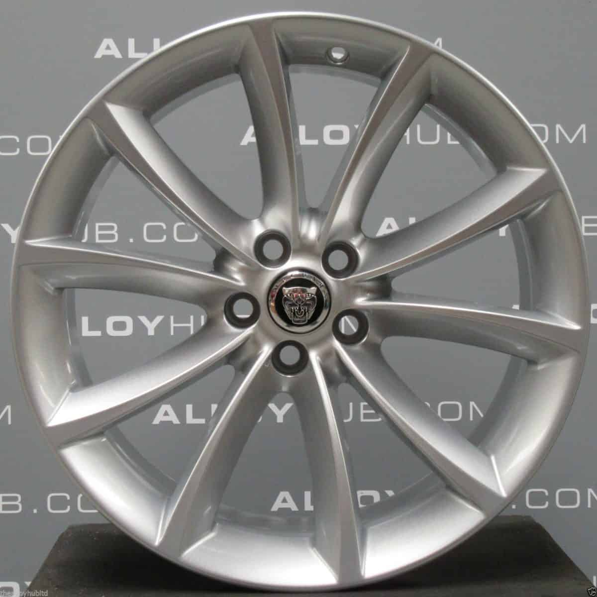 "Genuine Jaguar F-Type Aquila 10 Spoke 19"" inch Alloy Wheels with Silver Finish EX53-1007-CA EX53-1007-DA"