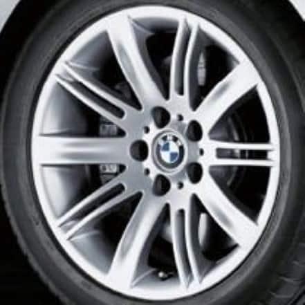 Genuine BMW 6 Series E63 E64 Style 120 18″ inch 10 Spoke Alloy Wheels with Silver Finish 36116760625 36116760626