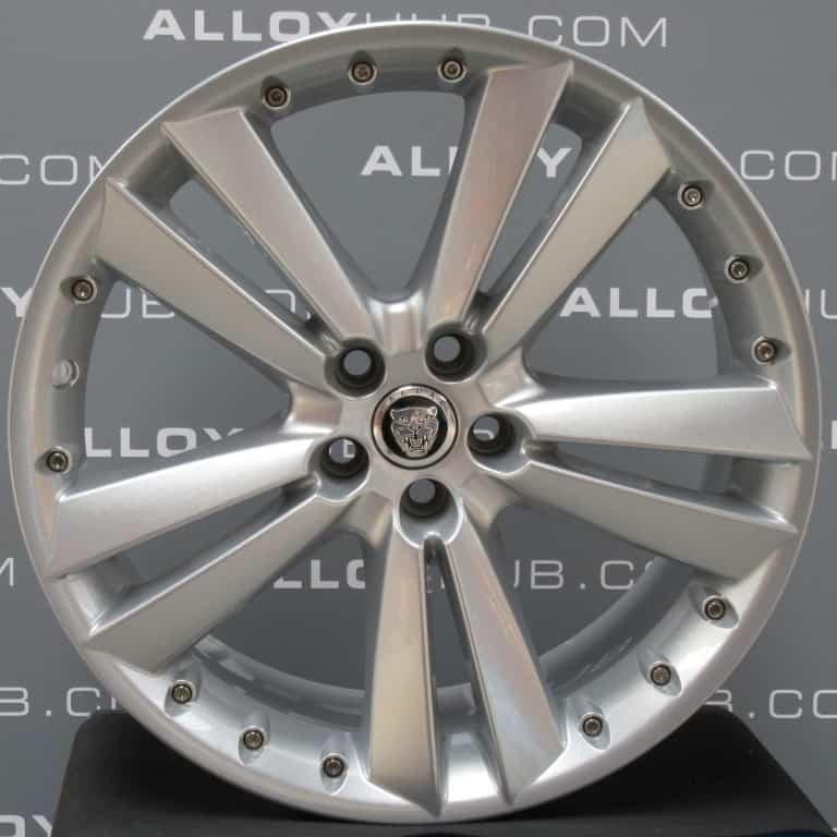 "Genuine Jaguar XK X150 Kalimnos 5 Twin Spoke 20"" inch Alloy Wheels with Silver Finish 8W83-1007-EA 8W83-1007-FA"