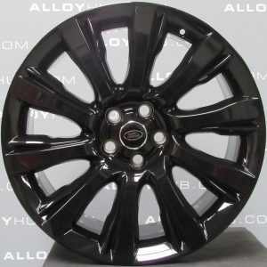 """Genuine Land Rover Range Rover Sport L494 Vogue L405 Style 1001 21"""" inch 10 Spoke Alloy Wheels with Gloss Black Finish LR037746"""