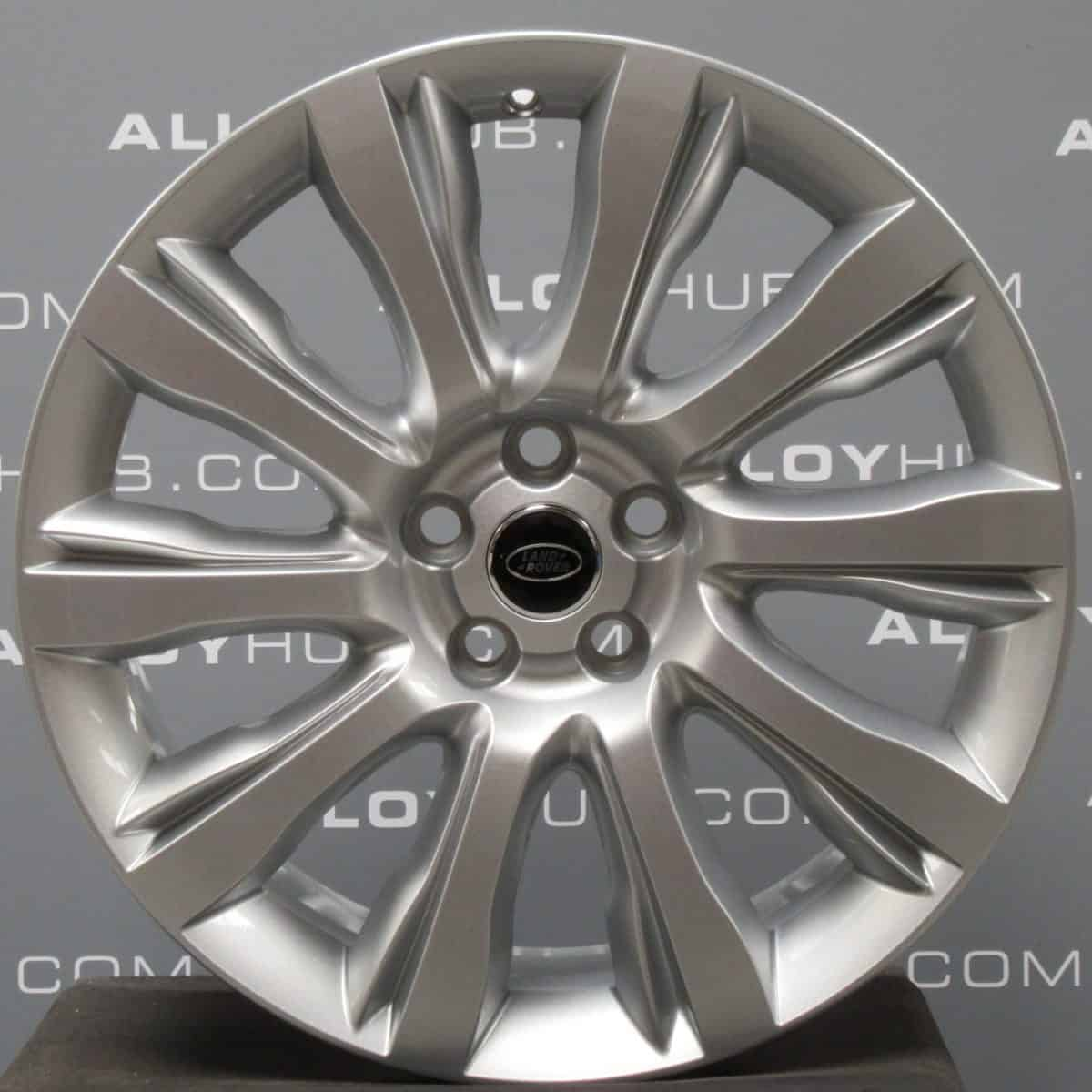 """Genuine Land Rover Range Rover Sport L494 Vogue L405 Style 1001 21"""" inch 10 Spoke Alloy Wheels with Sparkle Silver Finish LR037746"""