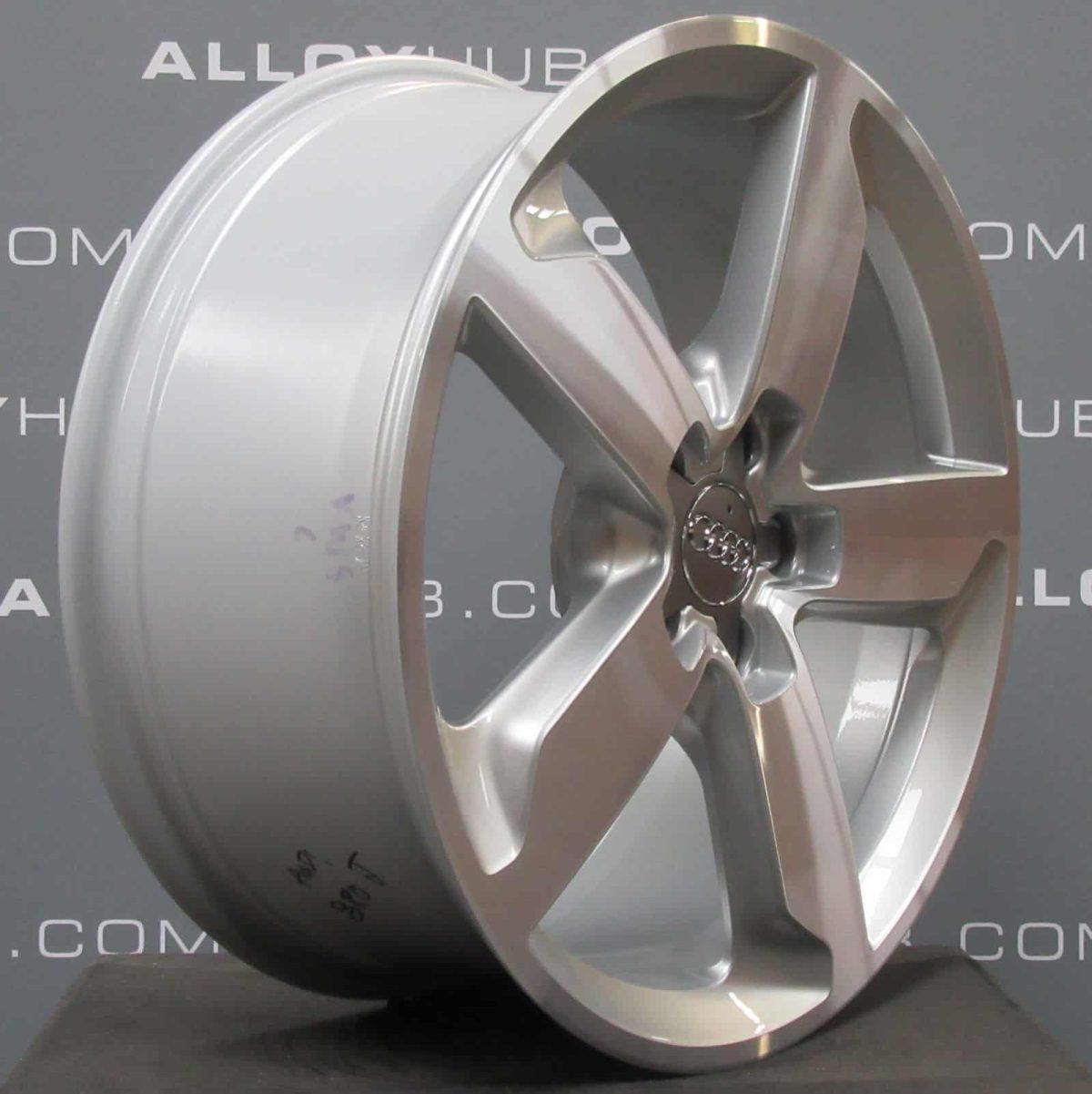 "Genuine Audi Q5 5 Spoke 19"" Inch Alloy Wheels with Diamond Turned & Silver Finish 8R0 601 025 J"