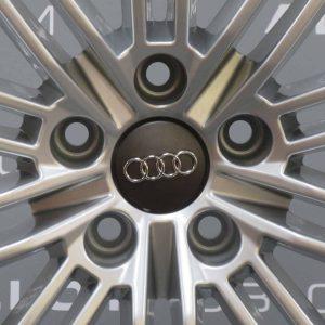 "Genuine Audi A4 8W 10 Twin Spoke 19"" Inch Alloy Wheels With Silver Finish 8W0 601 025 AJ"
