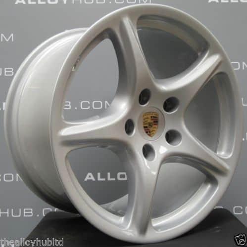 """Porsche 911 997 Carrera 2/2S Classic 5 Spoke 19"""" Silver Alloy Wheel"""