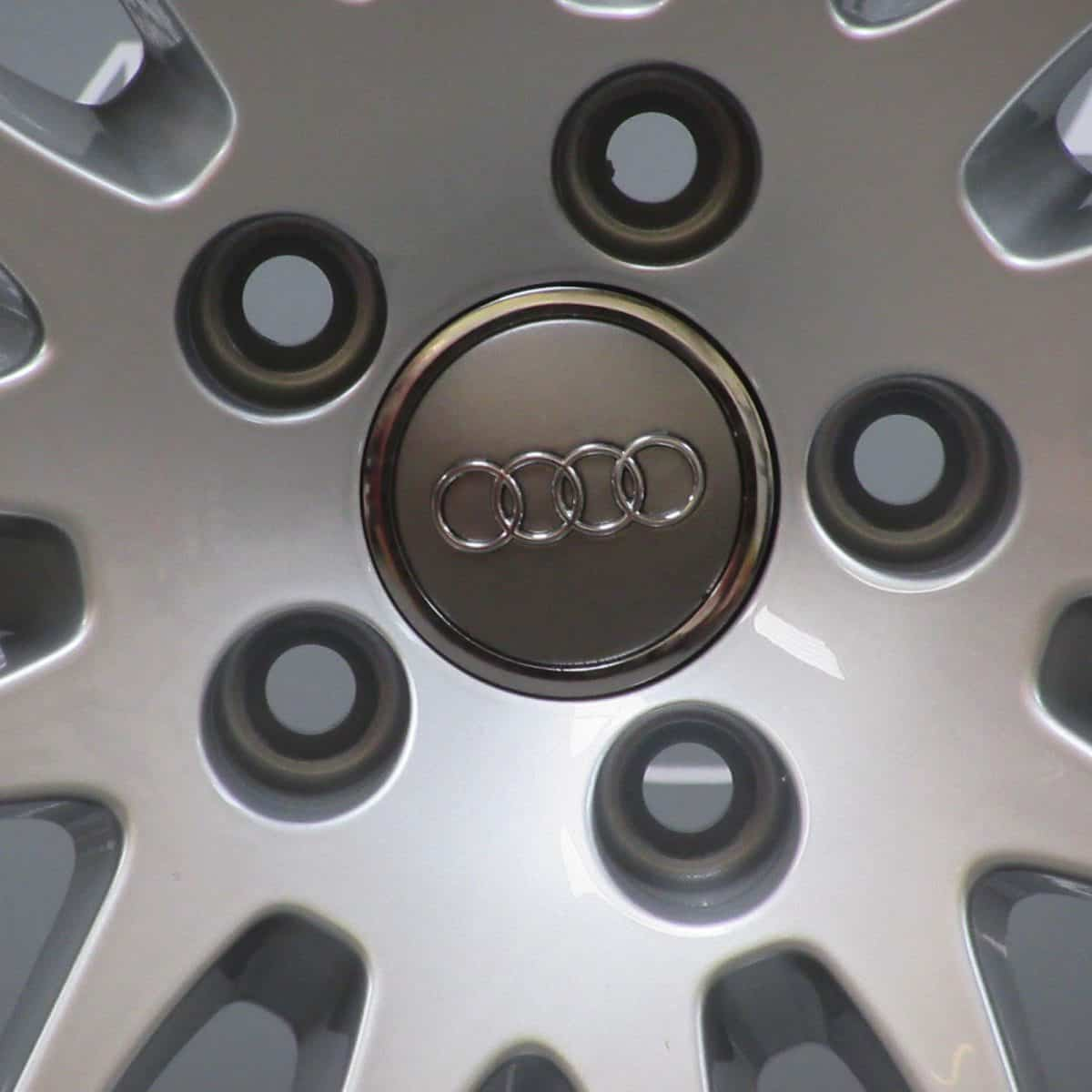 """Genuine Audi A5 S5 RS5 8T 7 Double Spoke 20"""" Inch Alloy Wheels with Silver Finish 8T0 601 025 N"""